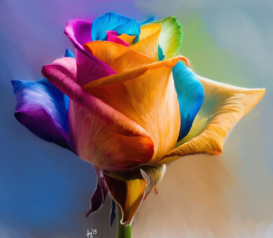 Rainbow rose by riverfox1 on deviantart for Where can i buy rainbow roses