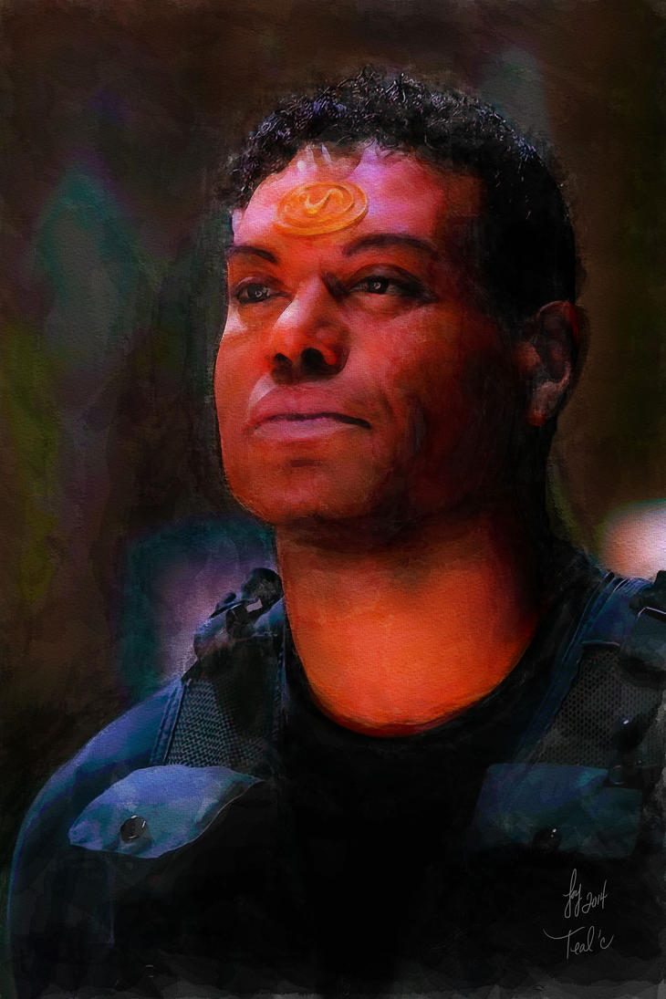 Teal'c - Stargate SG-1 - watercolor by riverfox1