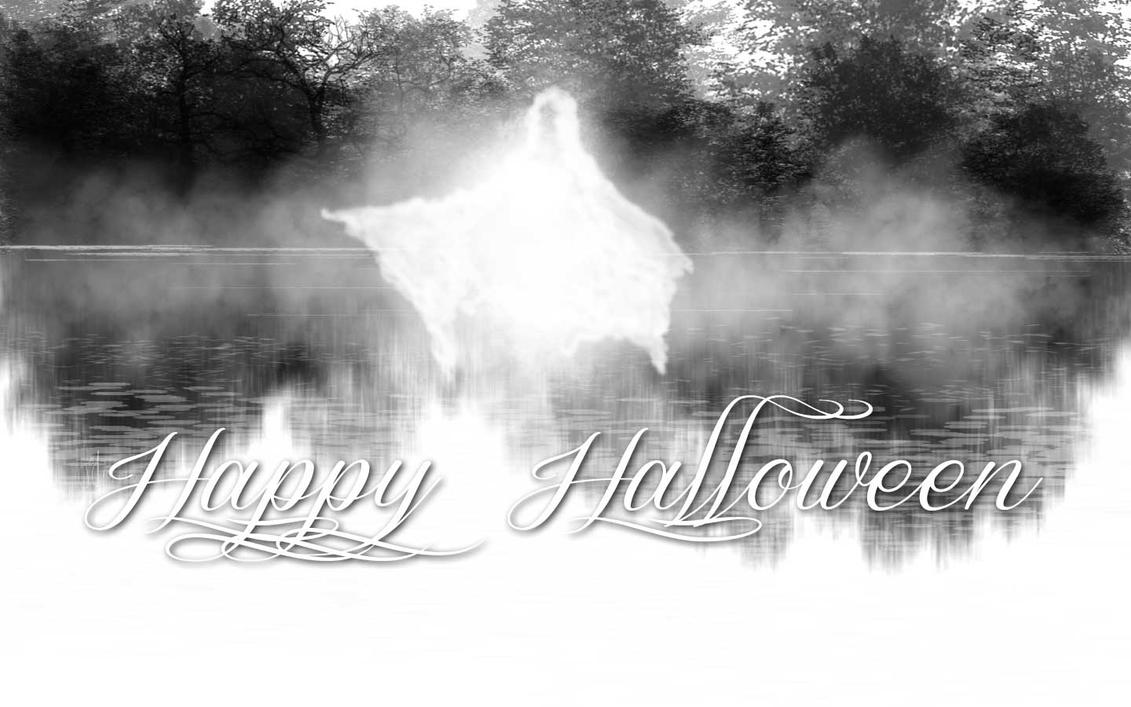 Happy Halloween in Black and White by riverfox1