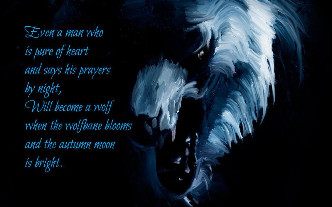 Halloween Werewolf with Poem by riverfox1