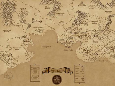 Var'chol'si Parchment map