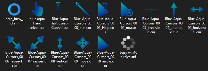 Blue Aqua Cursor Set