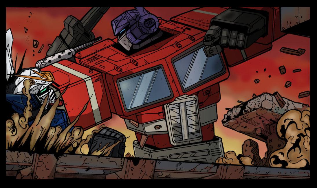 Optimus Prime Vs Gundam Wing
