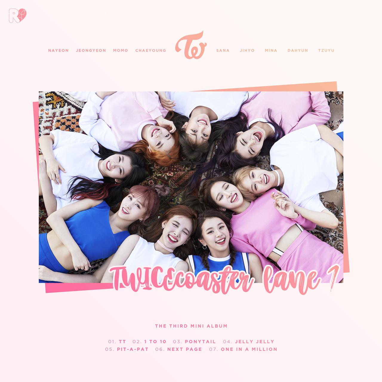 Twice Twicecoaster Lane 1 Album Cover By Areumdawokpop On