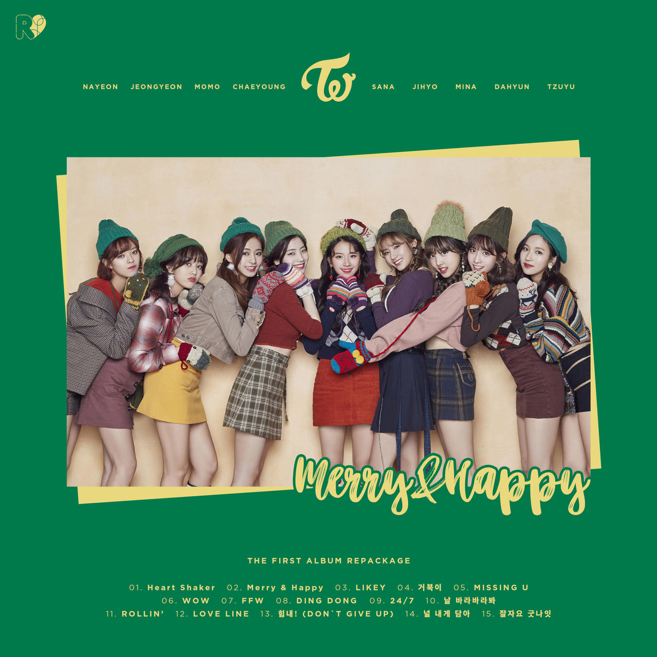 TWICE 'Merry and Happy' album cover by AreumdawoKpop on