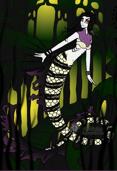 Female Mermaid Orochimaru by Naruto-Fan201 on DeviantArt
