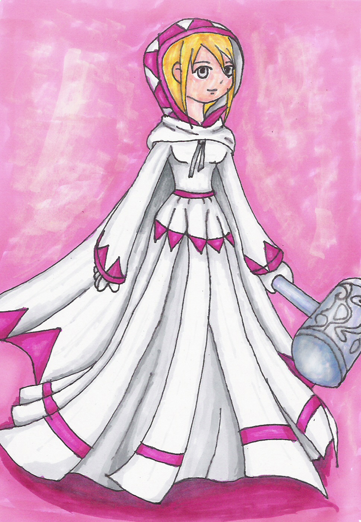 Maggie the White Mage III by Lady-of-Link