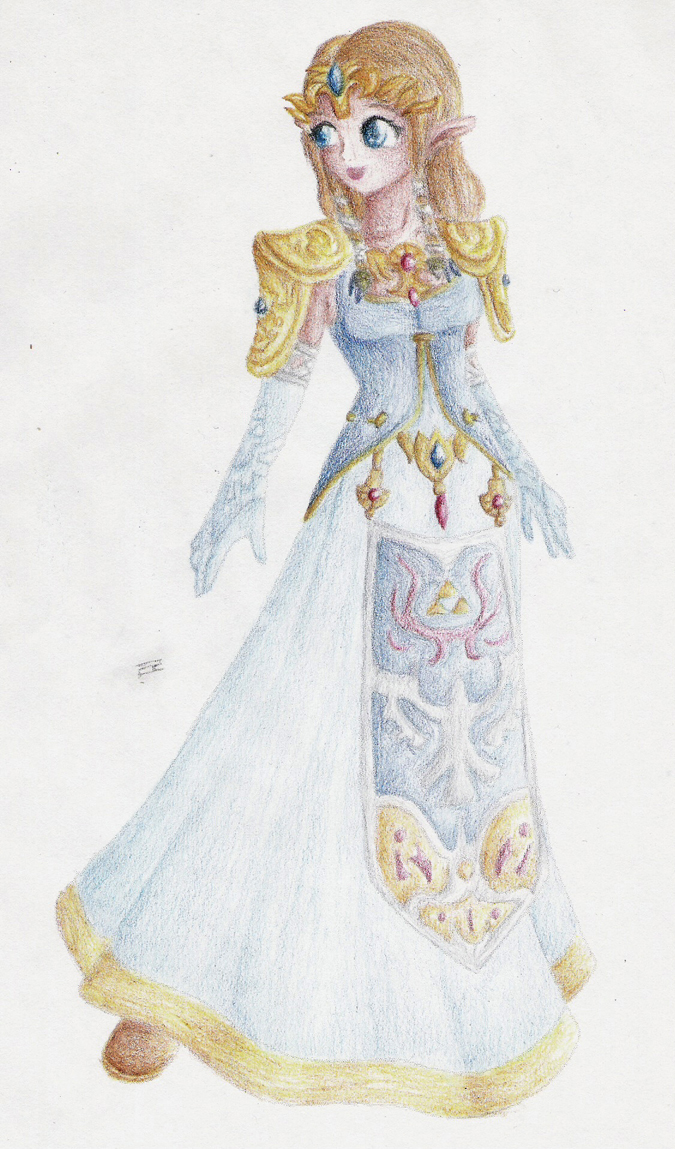 Trade: Zelda in Blue by Lady-of-Link