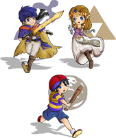 Smash Bros. Chibis by Lady-of-Link