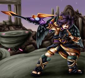 Dark Pit Staff by Lady-of-Link