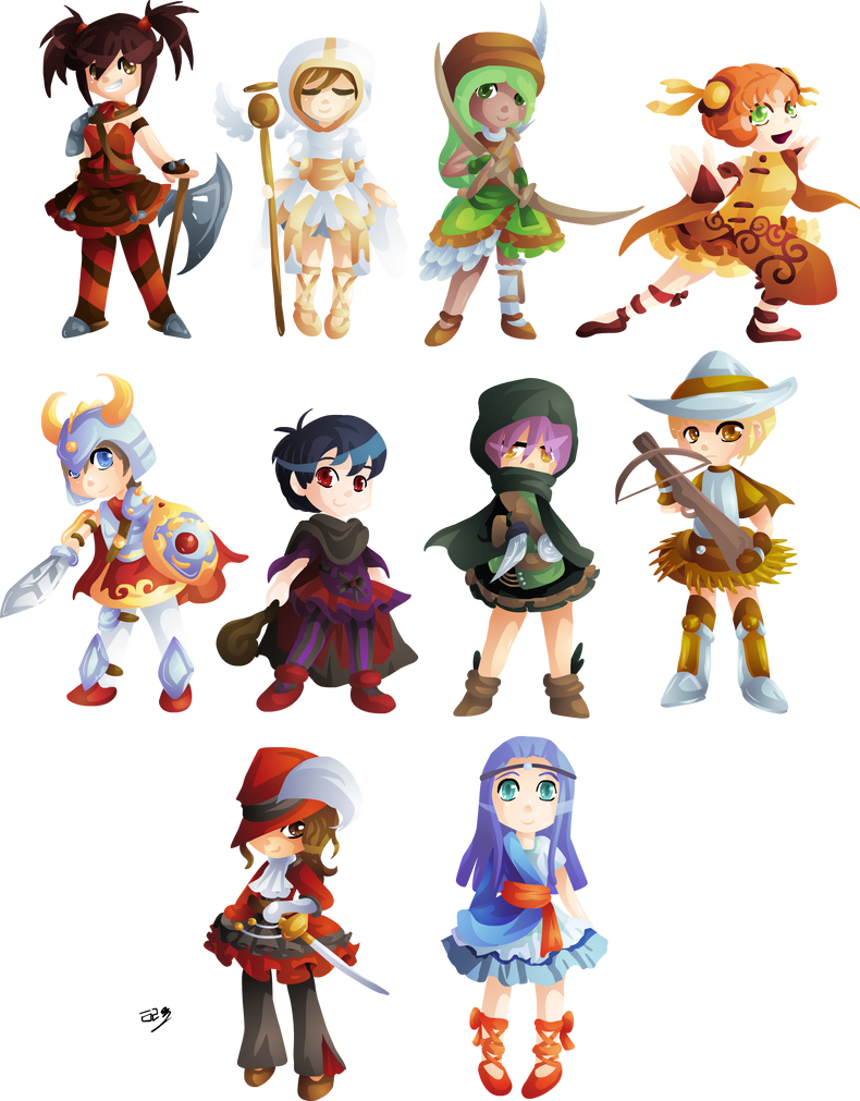 Game Design Character Classes : Rpg character classes by lady of link on deviantart