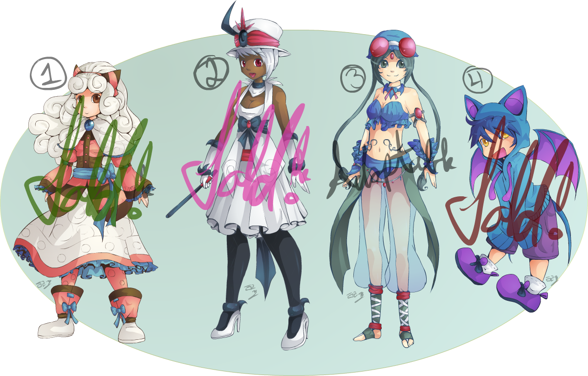 Gijinka Pokemon Adoptables Closed By Lady Of Link On Deviantart