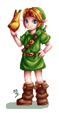 Young Link Pixel by Lady-of-Link