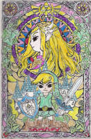 Wind Waker Link and Zelda by Lady-of-Link