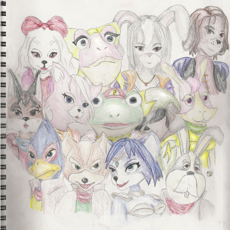 Star Fox: Family and Friends by Lady-of-Link on DeviantArt