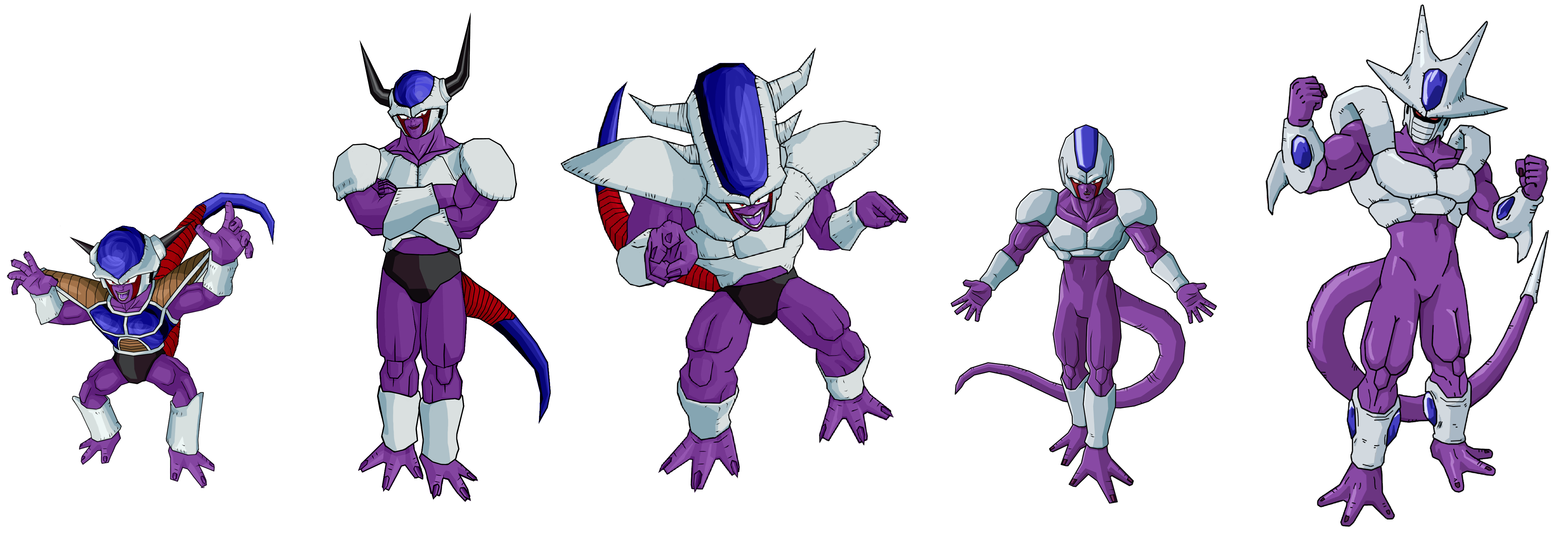 Cooler all forms by legoFrieza on DeviantArt