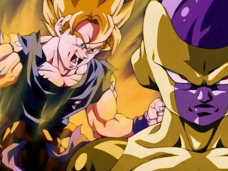 Golden Frieza vs SSJ Goku