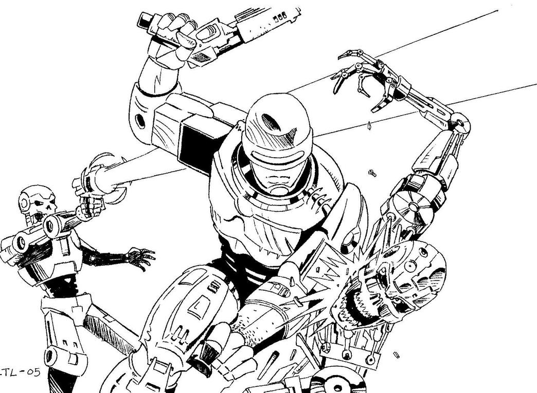 robocop coloring pages - photo#28