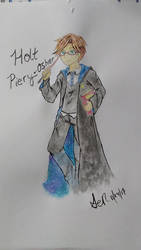 Watercolor Test: Holt Piery-Osher by Sendaira