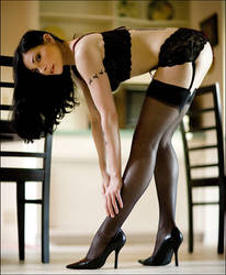 Black Stockings and Chairs by Anyssa