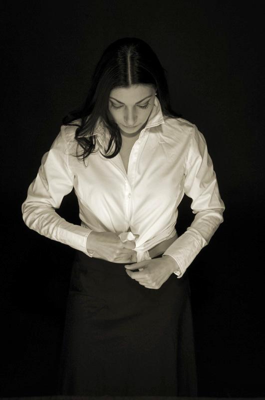white shirt by Anyssa