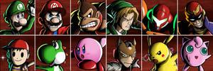 Super Smash Bros. Character Select Screen