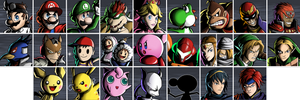 Super Smash Bros. Melee Character Select (All)