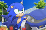 Sonic and his Speed Star! By Kiwi Sketch