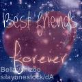 Heart Best Friends - graphic by bluemju