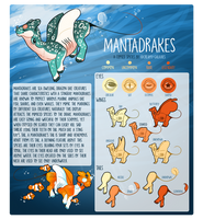MantaDrakes | Species Reference Sheet by CreamyGaIaxies