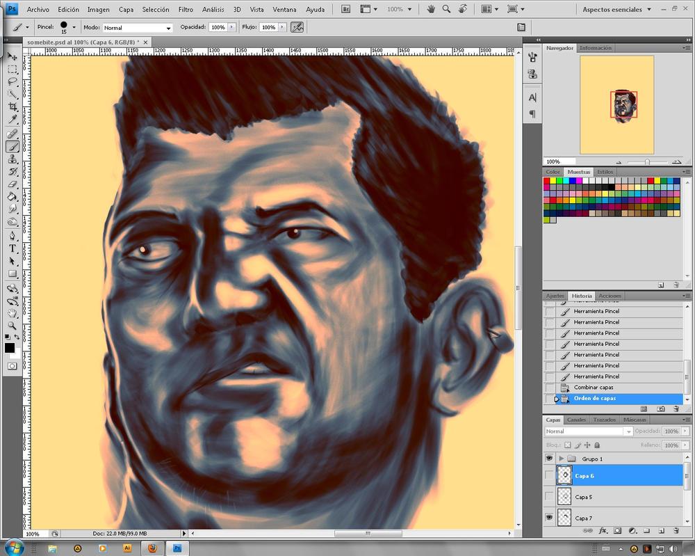 Self portrait progress by PIMI1023