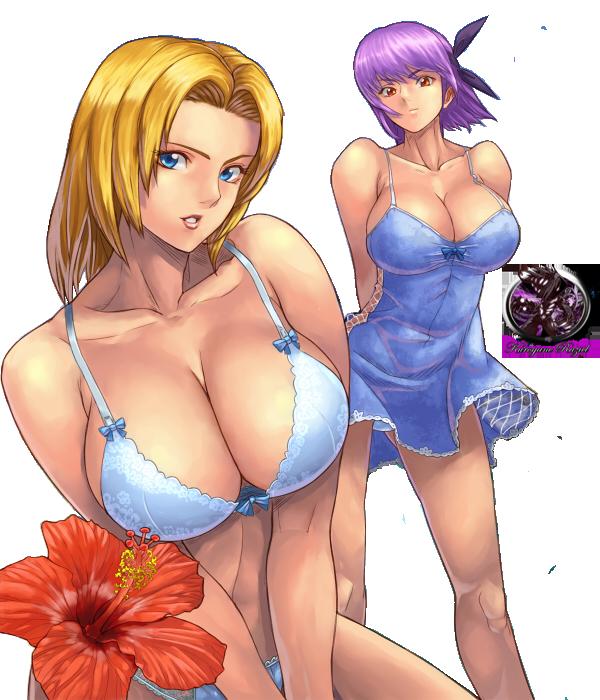Ayane and Tina Render by Kurogane-Raziel