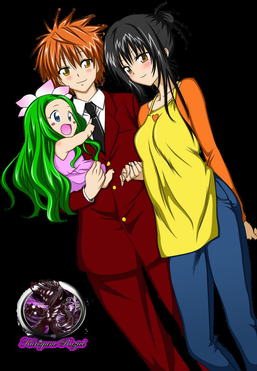 Rito, Yui and Celine Colored Render by Kurogane-Raziel