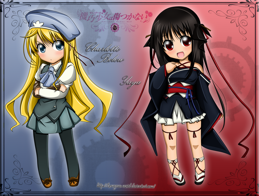 Yaya And Char Chibi Colored by Kurogane-Raziel