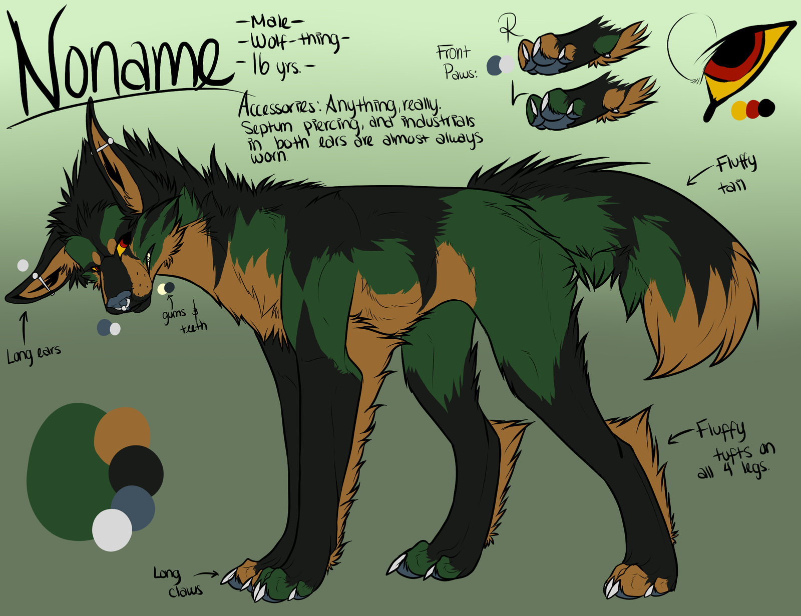 NoName Reference -Alter Fursona- 2013 Current by SecretsSecret