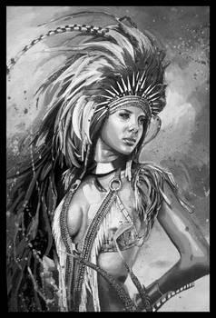 Acrylic _traditional art (BnW Version)