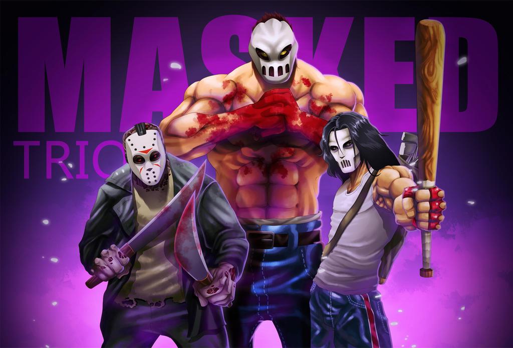 Masked Trio by ZehB