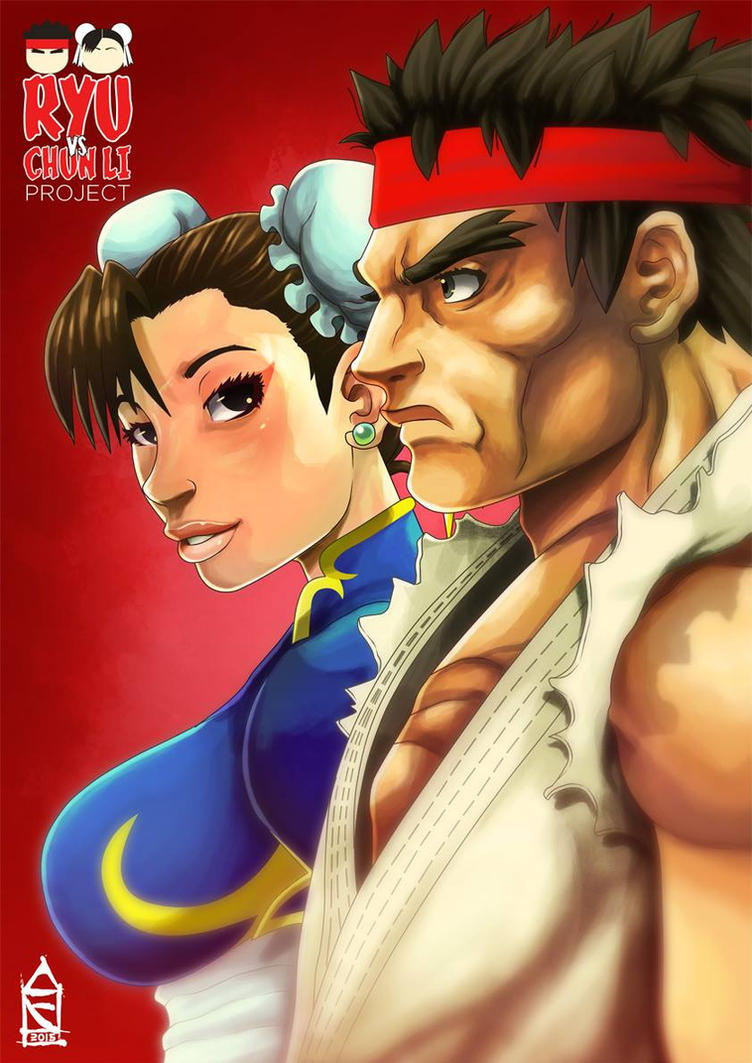Ryu vs Chun Li by ZehB