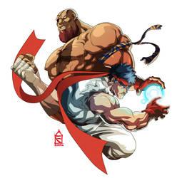 Ryu vs Sagat by ZehB