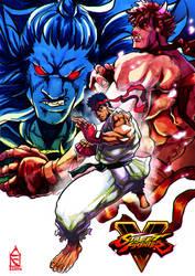 Ryu - Kage - Akuma by ZehB