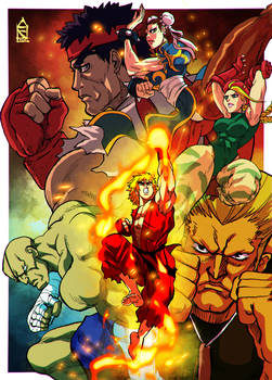Street Fighter group fanart