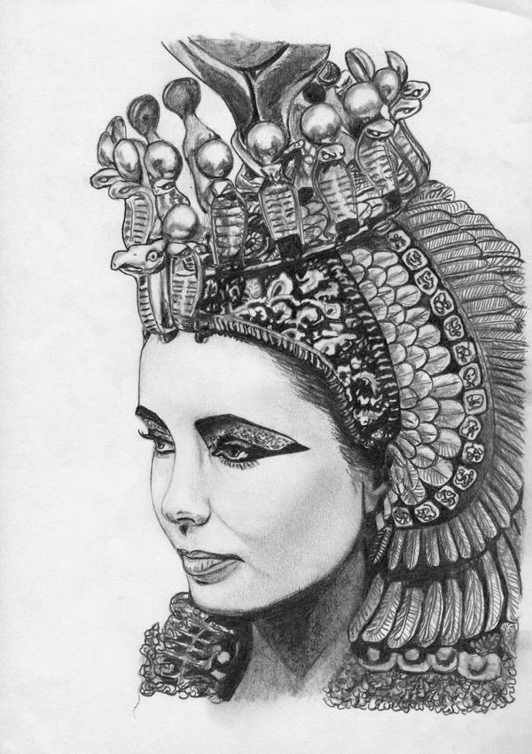 egyptian queen drawing - photo #2