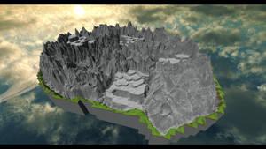 Mt. Ordeals (FFIV) in Minecraft by Sir-Beret