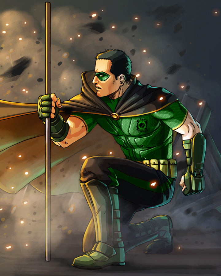 Green Lantern Robin by htcOliver