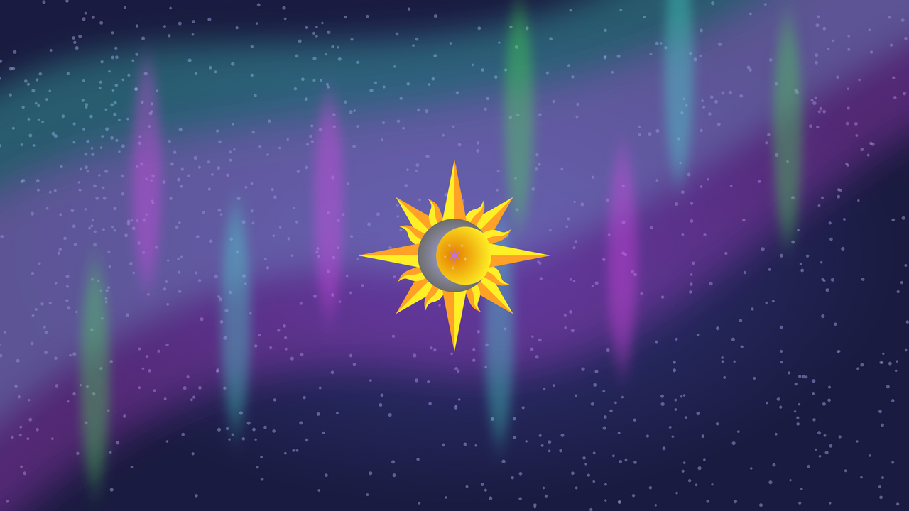 Sun, Moon, and Stars | Wallpaper by The