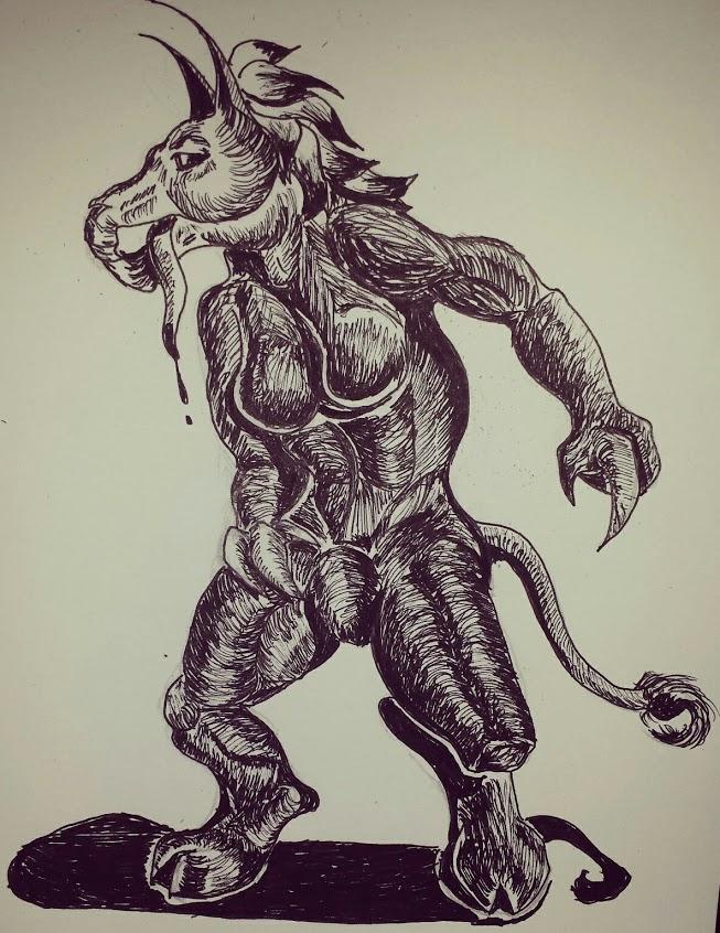 Inktober demon by Coagula