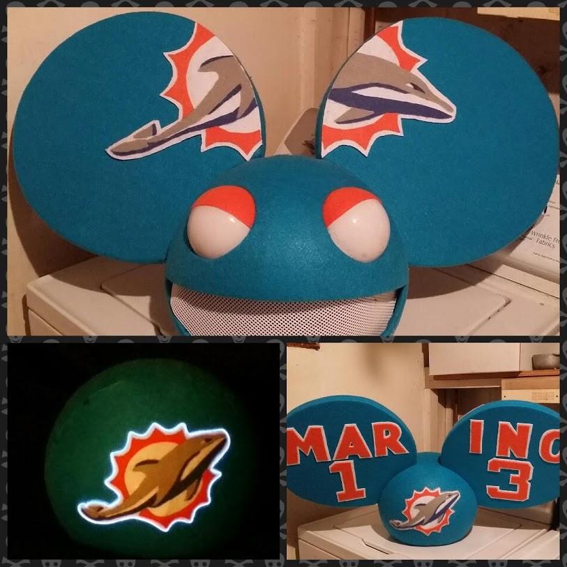 Miami Dolphins Deadmau5 head by Coagula
