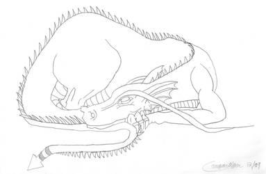 Sleeping Dragon by cougartiger