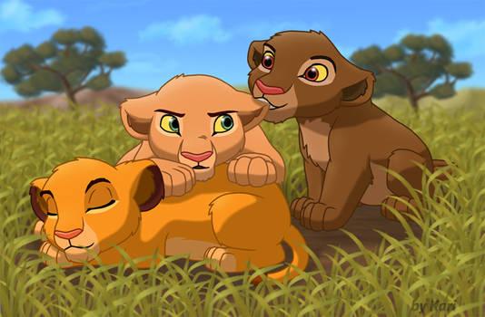 Simba, Nala and Chumvi