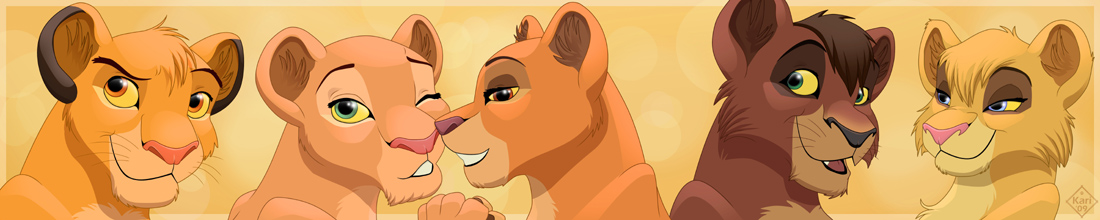 THE five lion cubs by dukacia